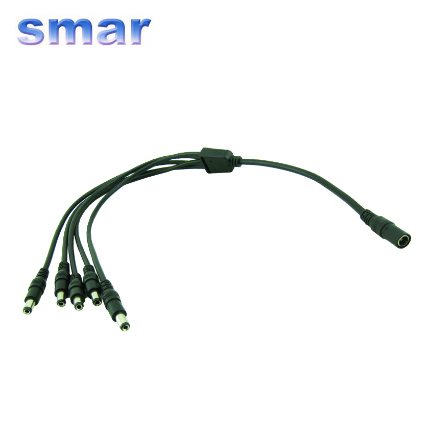 CCTV Camera Cable 1 To 5 DC Power Splitter Adapter Cable CCTV Camera Cable For Security Surveillance System