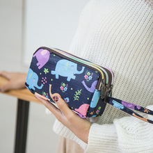 Ou Mo brand Coin Purse Wallet Women High capacity Multifunction Clutch phone Key case 33 colors printing wallet Female