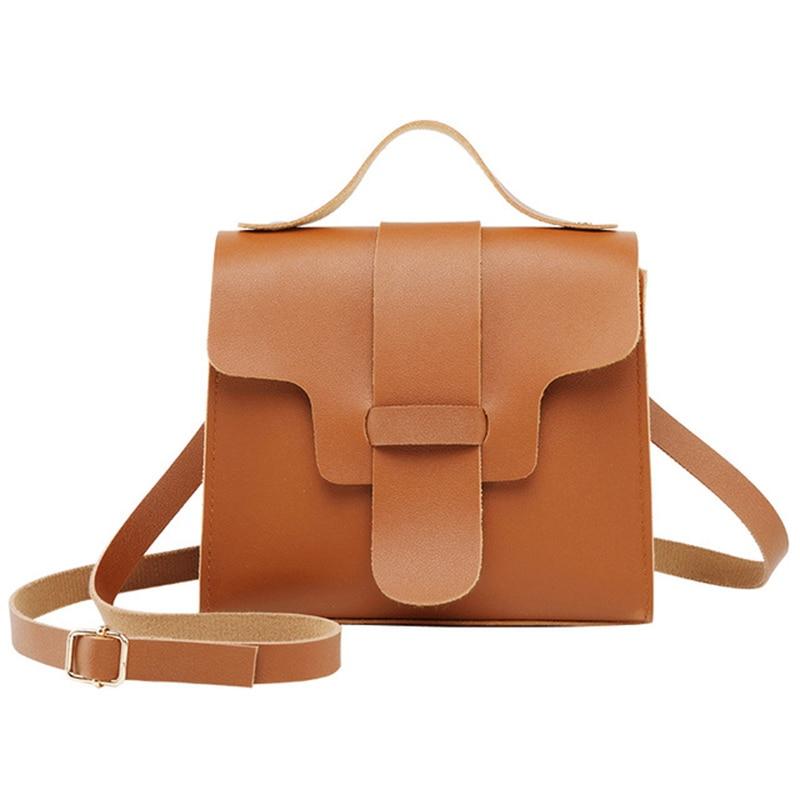 Small Fashion Casual Crossbody Bag For Women Solid PU Lether Shoulder Bag Messenger Phone Coin Bag Small korean Style Bolsas