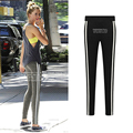 5xl plus size pants women spring autumn 2016 bermuda feminina stripes thin tight pants legging female A1269