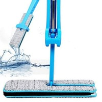 Home Superfine fiber Double side Lazy Mop 360 degrees Rotate Free Hand Washing Wet and dry Dual use Flat Mops for Ceramic tile