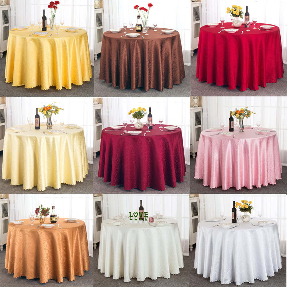 Free Shipping Polyester Satin Wedding Tablecloth Jacquard  : Free Shipping Polyester Satin Wedding Tablecloth Jacquard Round Table Cloth Hotel Dining Table Cover Decor Solid from www.aliexpress.com size 1000 x 1000 jpeg 825kB