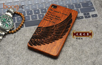 2016 New Wood Case Huawei P8 Natural Real Bamboo Carving Wooden Back Cover For Huawei P8