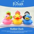 Envío gratis PVC 6 cm Semk b mini juguete del baño del pato 6 unidades / 1 caja