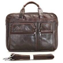 все цены на 2019 New Vintage Men's Briefcase Male Genuine Leather men Messenger Bag Men's Shoulder Bags Leather Laptop Bag men for document онлайн