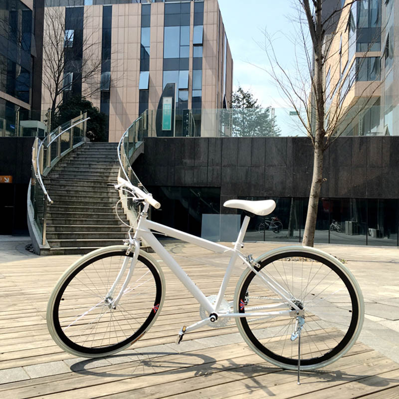 High Quality Aluminum Alloy Material 26 Inch White Frame Material Bike Producers City Bike
