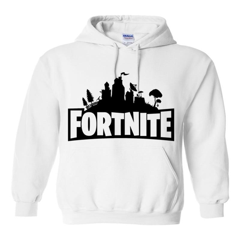 Black//White Fortnite Hoodie