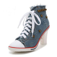 Women Pumps Fashion New Design Rivets Square Heels Quality High Autumn Lady Comfortable Shoes