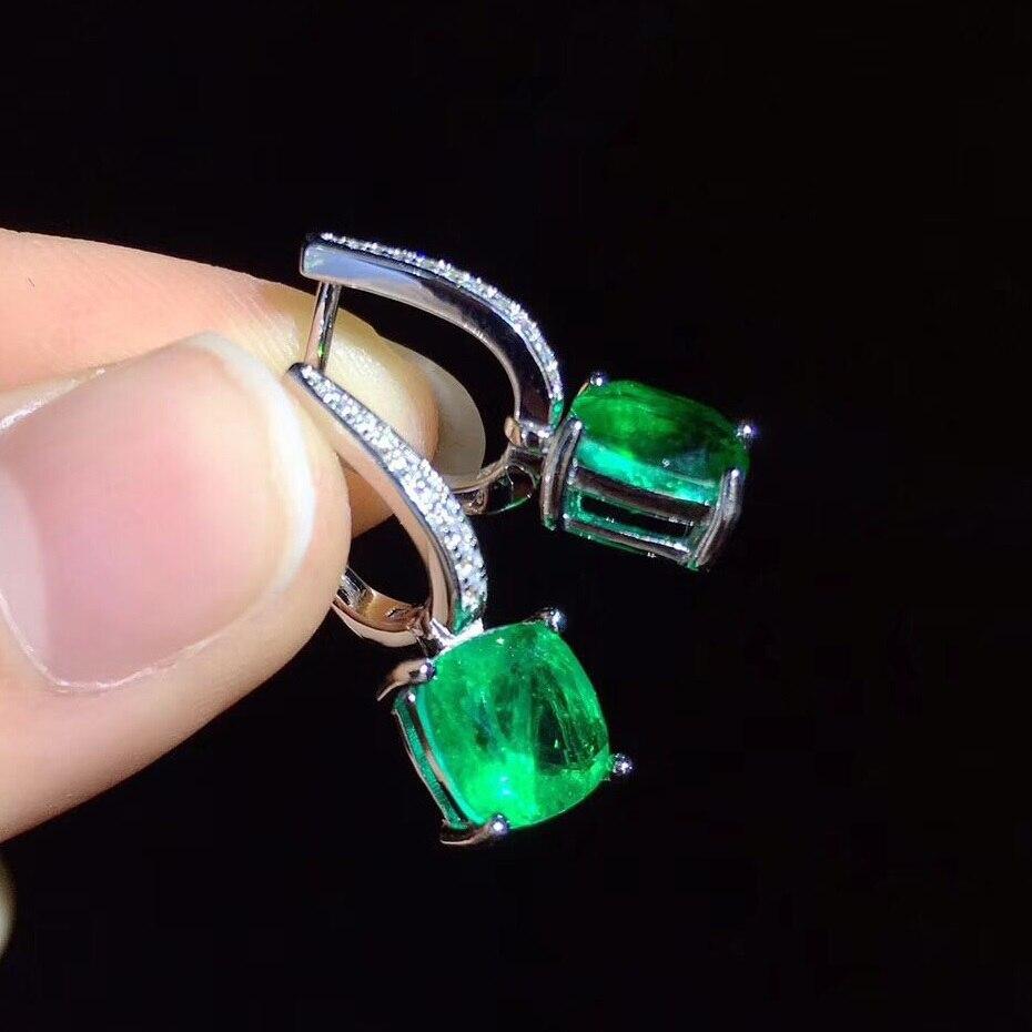 Nouvelles boucles d'oreilles boucles d'oreilles carrées S925 argent incrusté Zircon élégant et irrégulier ventes directes d'usine