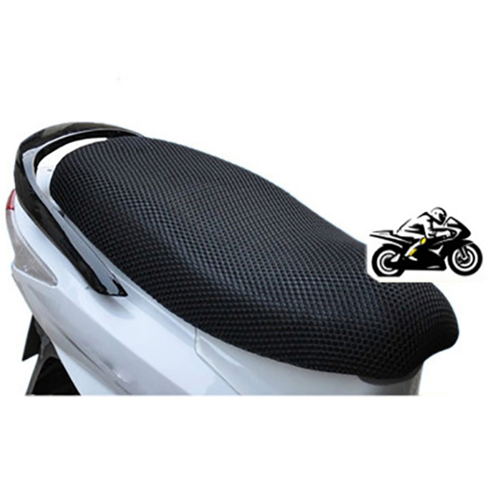 Motorcycle Seat Cover Breathable Insulation Scooter Seat Cusion Protective Net Black Camo Fit for Honda Kawasaki Yamaha BMW