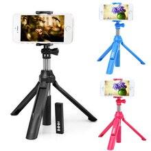 4en1 disparador remoto inalámbrico bluetooth 4.0 + teléfono celular de mano selfie stick monopod + trípode + soporte para ios android smart teléfono