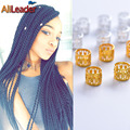 100Pcs Paid With 5Pcs Free Dreadlock Beads Adjustable Braid Cuffs Micro Hair Rings 8Mm Hole Hair Beads For Braids Free Shipping