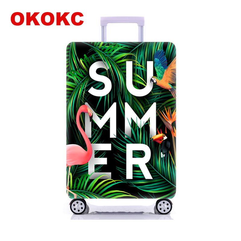 OKOKC Super&Flamingo Travel Luggage Protective Cover For 18-32Inch Trolley Suitcase Elastic Trunk Case Dust Covers With Zipper