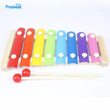 Kids font b Toy b font Baby Wood 8 Notes First Music Instrument Portable Learning Educational