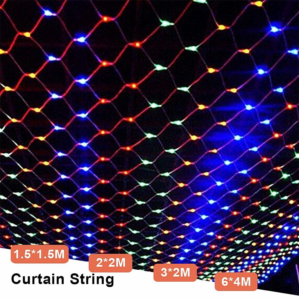 Garland Christmas Holiday Mesh Net LED String Lights 220V 2*2M/3*2M/1.5*1.5M Outdoor Garden Wedding Curtain Fairy String Light