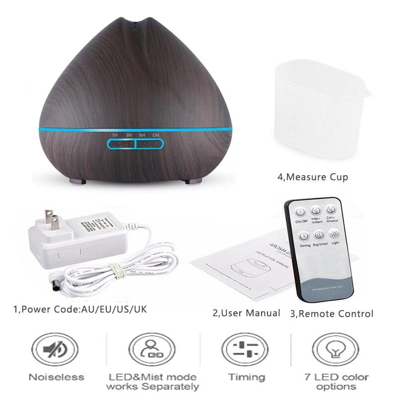 Wood Grain Aromatherapy Diffuser 7 Color LED Light </div>             </div>   </div>       </div>     <div class=