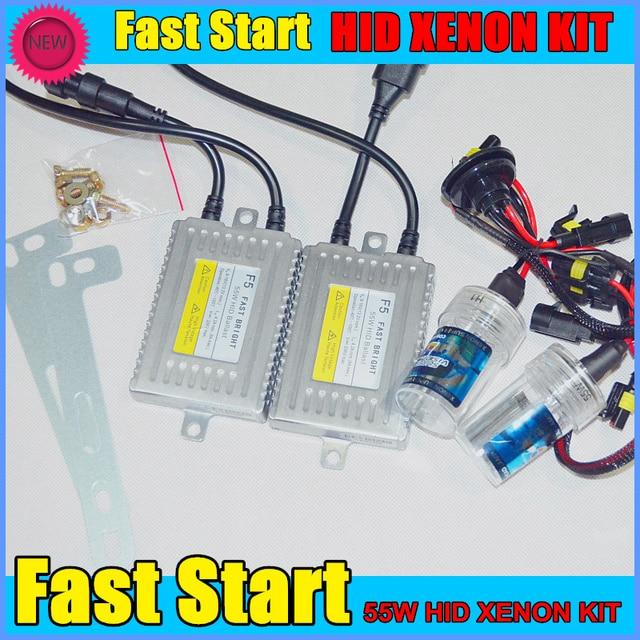 2016 New DLT F5 55W Fast Start Hid Kit H1 H3 H7 H8 H9 H11 9005 9006 Xenon Headlight Conversion SQ2259