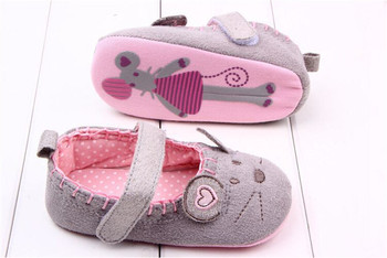 2015 Cotton Baby Shoes Cute Soft Little Mouse Toddler Infant Shoes For Girl And Boy Children Kids Soft Bottom First Walker 1