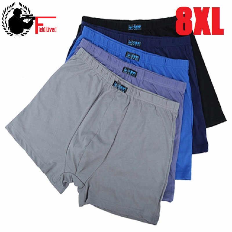 Lot Loose Cotton Underwear Male Boxer Calecon Homme Pantie Breathable Fat  Mens Under Wear Shorts Large
