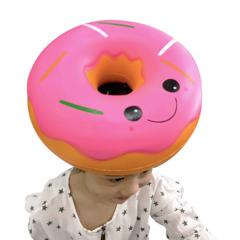 Big Squishy Doughnut Jumbo Squishy Slow Rising Large Squishes Soft PU Squish Simulation Food Relief Antistress Kids Toys Gifts