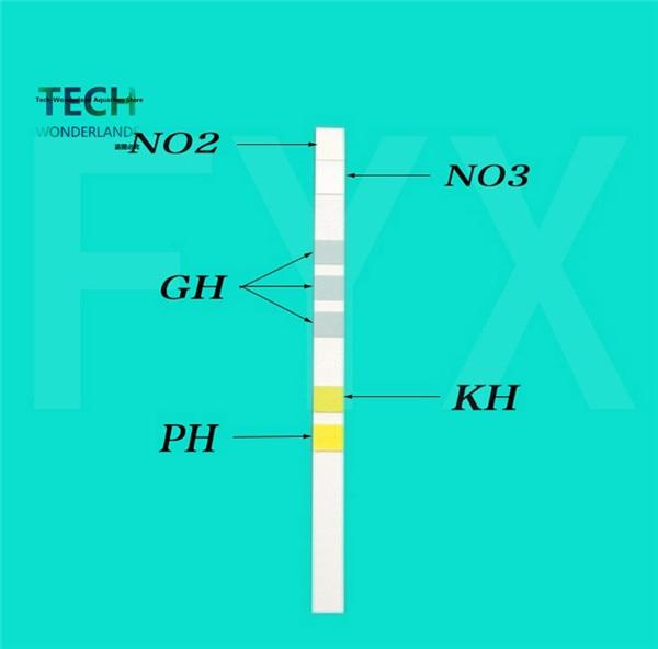 Sera 5in1 quick test strips PH GH KH NO2 NO3 test kit for aquarium water analysis fish tank water testing