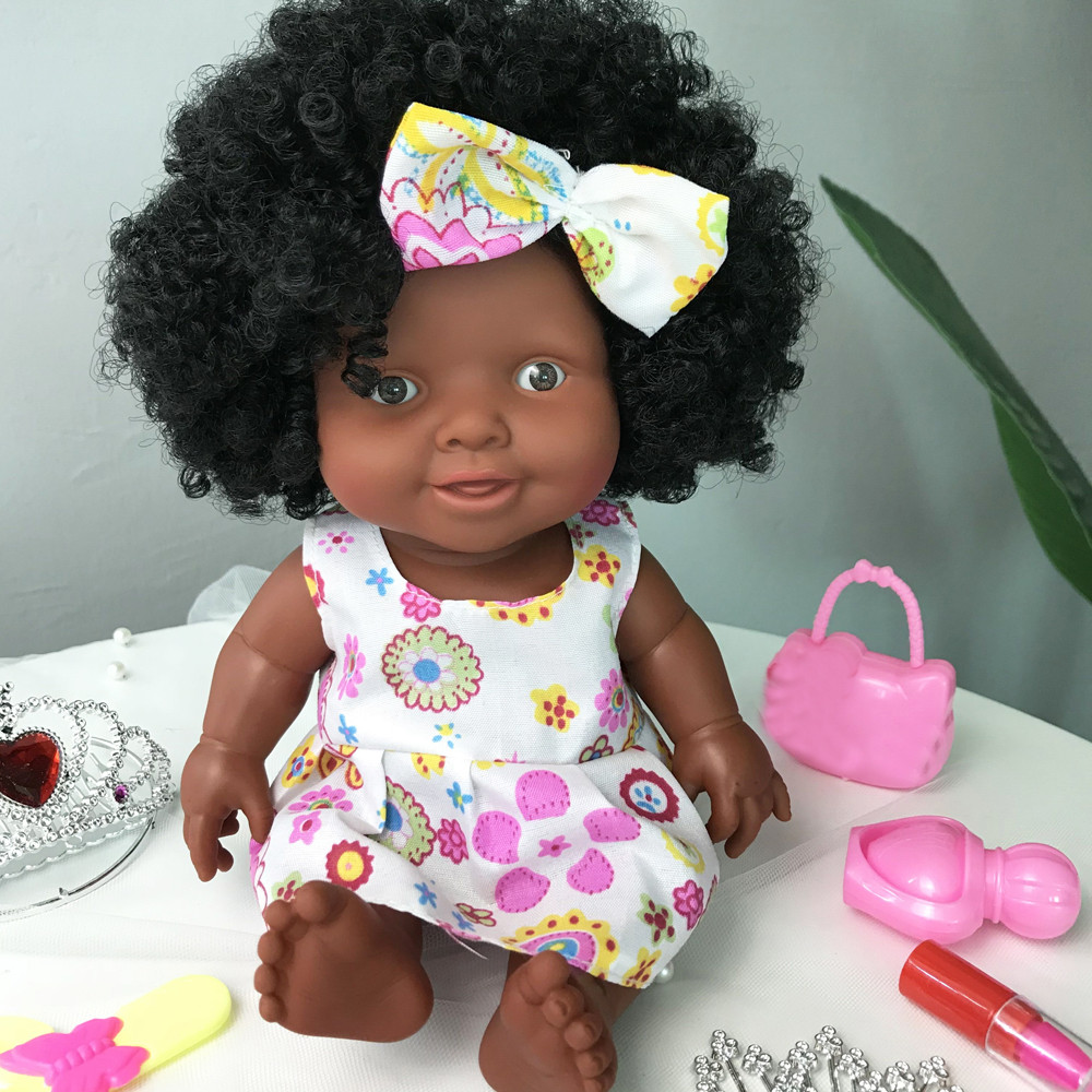 2018 New Style Baby Movable Joint African Doll Toy Black