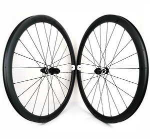 Image 5 - EVO 38mm derinlik yol bisiklet fren diski karbon tekerlekler 25 genişlik Tubeless cyclocross karbon tekerlekler et merkezi kilit disk fren hub