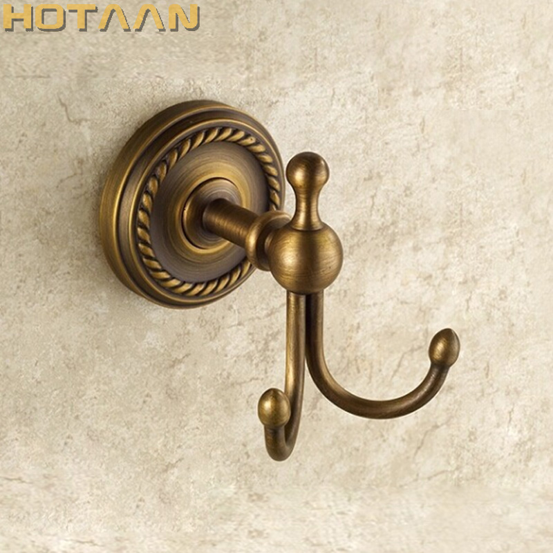 Free Shipping Antique Bronze Color Brass Wall Hooks& Racks,Clothes Hanger & Metal & Towel & Coat&Robe Hook.Bathroom Accessories