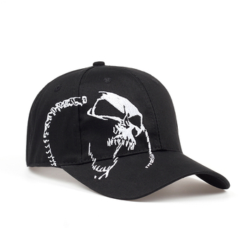 High Quality Unisex 100% Cotton Outdoor Baseball Cap Skull Embroidery Snapback Fashion Sports Hats For Men & Women Cap 2018 new