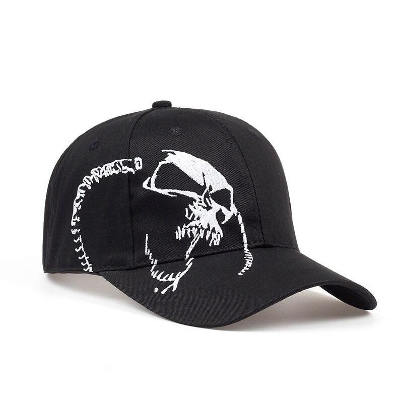 Hohe Qualität Unisex 100% Baumwolle Outdoor Baseball Kappe Schädel Stickerei Snapback Mode Sport Hüte Für Männer & Frauen Kappe 2018 neue