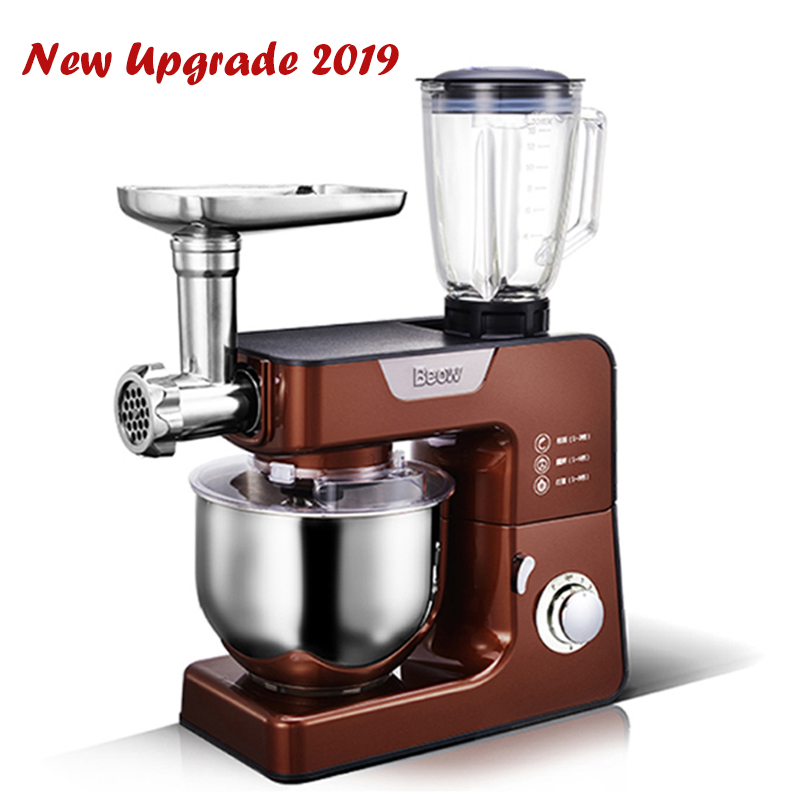 Household Multi function Electric Food Dough Mixer Food Cook Machine Meat Grinder Noodle Machine High Speed Kitchen Blender