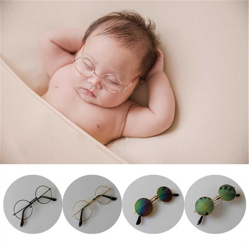 Newborn Baby Boys Girls Flat Glasses Photography Props Studio Shoot Gentleman