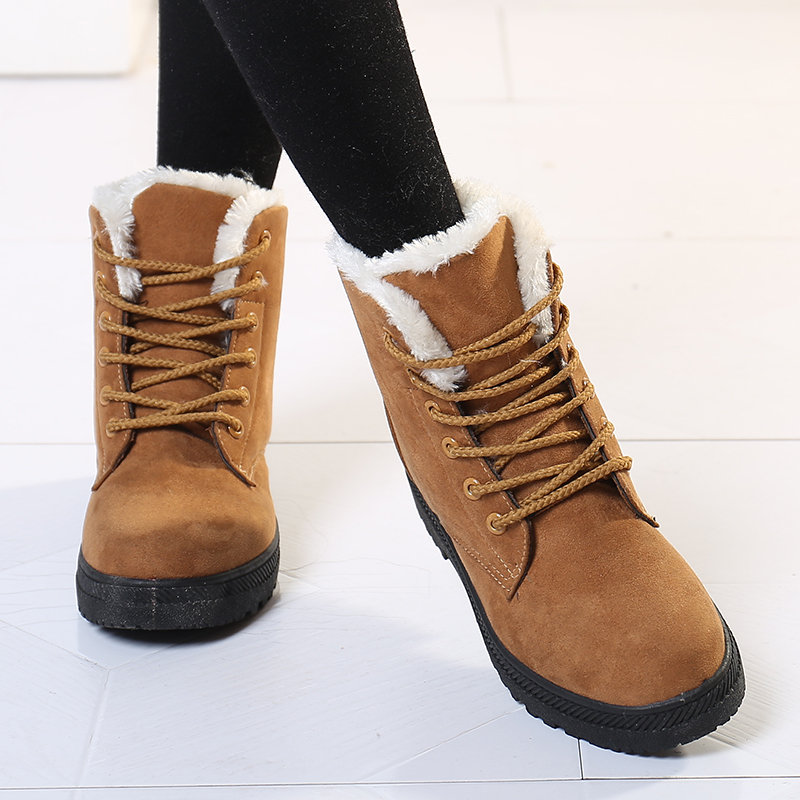 Women Boots Plus Size 44 Snow Boot For Women Winter Shoes Heels Winter Boots Ankle Botas