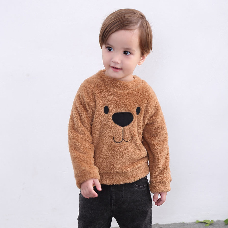 Newborn Girls Boys Hoodie Sweatshirts Pants Long Sleeve Cartoon Bear Tops