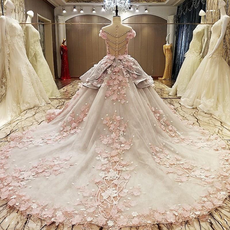 LS83920 vestido de noche de la cremallera detrás rebordeado organza del vestido