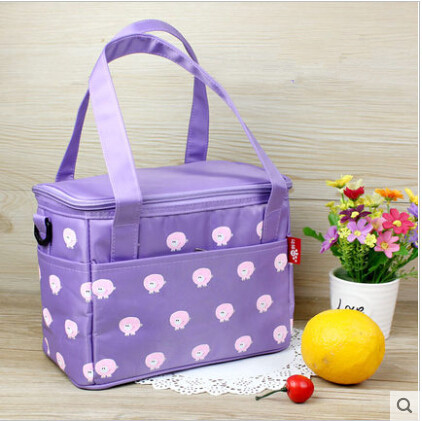 Waterproof Lunch Bag Container Denim Lead Free Insulated Food Holder For Travel Picnic Lancheira Termica