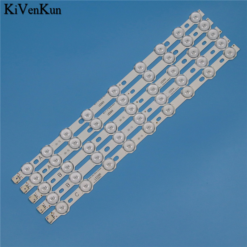 355mm 9 Lamps LED Backlight Strip For Toshiba 40L1333DB 40L3451DB 40L3453DB 40L3454DB 40L1533DB 40L3433DG Bars LED Bands Kit