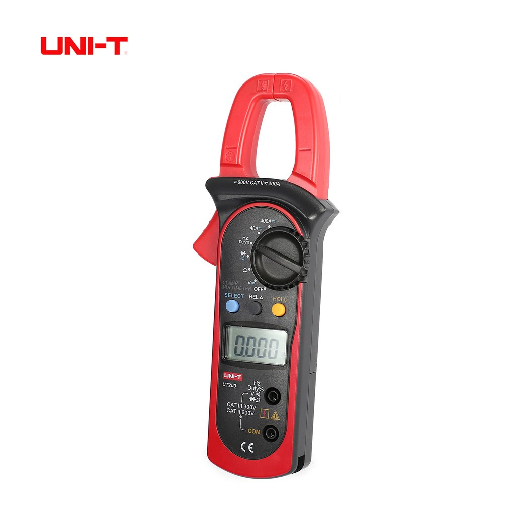 UNI-T UT203 4000 Counts Digital Handheld Clamp Multimeter with Auto Range DMM DC/AC Voltage 400A Current Ohm Tester Meter uni t ut203 ut 203 digital clamp multimeter 3 3 4 ohm dmm dc ac current voltmeter 40a 400a