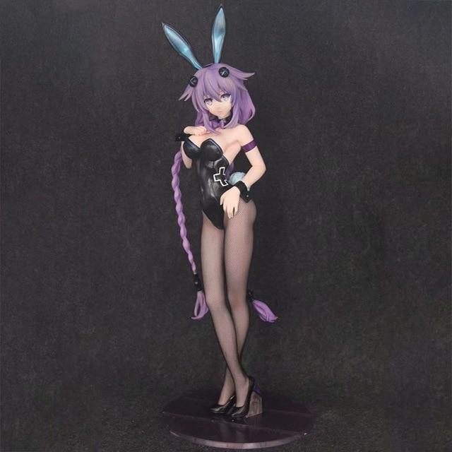 Figurine d'anime sexy japonaise de 43 cm libérant la figurine d'action de fille de lapin de Neptunia d'hyperdimension
