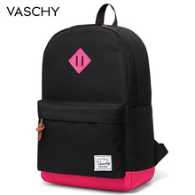 Backpack Women and Girls VASCHY Unisex Classic Water Resistant Rucksack School Backpack 14Inch Laptop for Teenager balang brand unisex water rsistant laptop backpack boys and girls portable travel backpacks fashion college school bag rucksack
