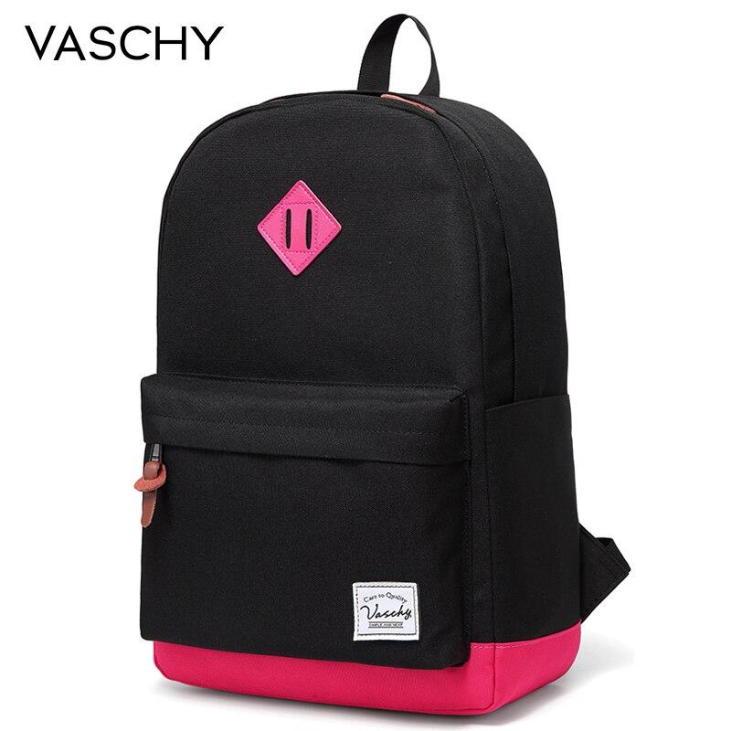 Sac à dos femmes et filles VASCHY unisexe classique résistant à l'eau sac à dos école sac à dos 14 pouces ordinateur portable pour adolescent
