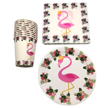 60pcs/lot Baby Shower Party Cups Kids Girls Favors Decoration Napkins Birthday Plates Flamingo Theme Tableware Set For 20 People