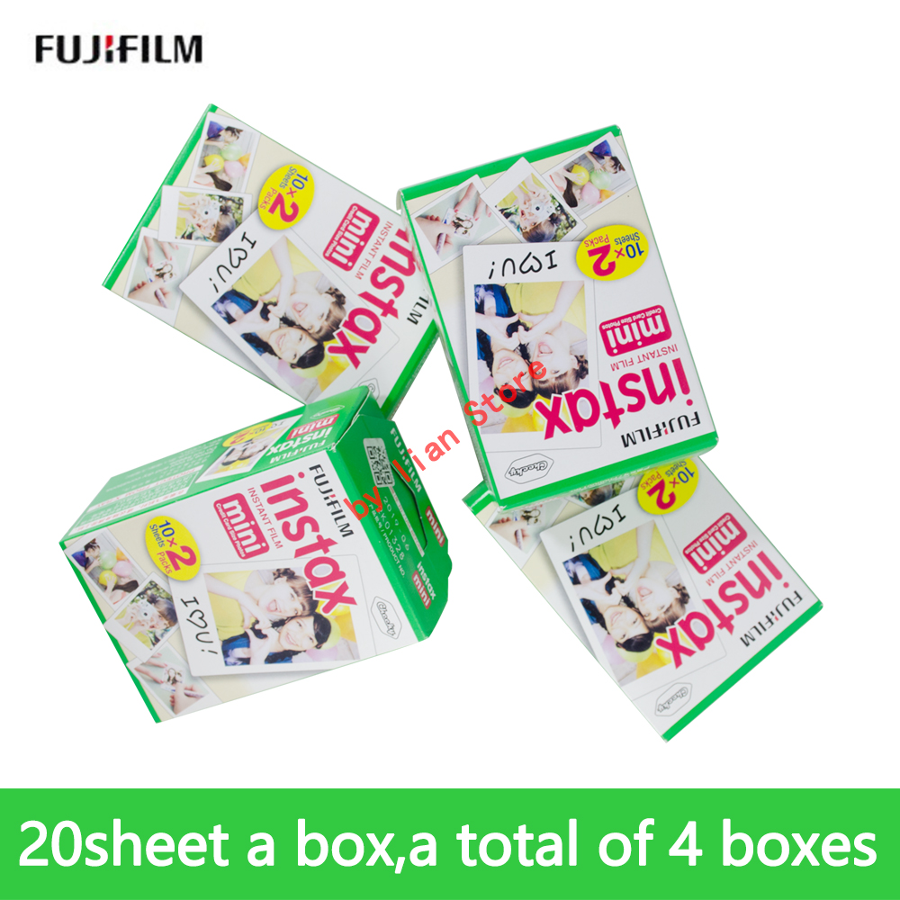 80 sheets Fujifilm Instax Mini White mini Film Instant Photo Paper camera For Instant camera Film Mini 8 9 7s 9 70 25 50s 90 freeshipping 500 pcs fujifilm instax mini 8 film 20x25 sheets for camera instant mini 7s 25 50s 90 photo paper with retail box