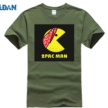 e95464cb GILDAN 2PAC T-Shirt Funny PAC MAN Tshirt Men 2019 Summer White Printed Top  Tees