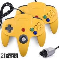 2 шт. классический проводной геймпад джойстик для N64 64 контроллер Ретро игровой консоли аналоговый gaming джойстика