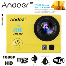 """Andoer Q3H 2"""" Ultra-HD LCD 4K 25FPS 1080P 60FPS Wifi Cam FPV Video Output 16MP Action Camera"""