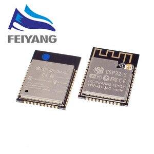 Image 1 - 10PCS ESP32 ESP 32 무선 모듈 ESP32 S ESP WROOM 32 ESP 32S 32 Mbits PSRAM IPEX PCB 안테나 4MB 플래시