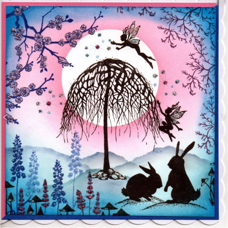 Fairy Tree Clear Stamp For Scrapbooking Transparent Silicone Rubber Stamps DIY Photo Album Decor Paper Card Making