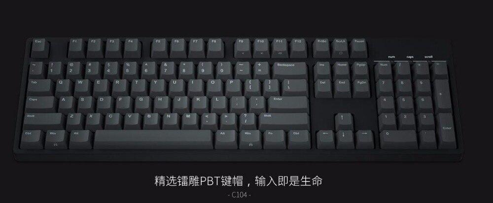 bilder für IKBC C104 mechanische tastatur starke PBT keycap cherry mx-schalter braun blau volle größe nicht backlit gaming tastatur
