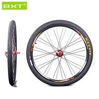 2016 BXT Mountain Bike 26er 27.5er 29er Através de Eixos Traseiro Da Frente 100*15mm 142*12mm Disco Rodas de freio MTB Aro Clincher Rodado